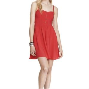 Express red cami dress